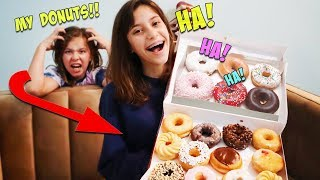 I STOLE MY SISTER'S SECRET DONUT STASH AND ATE THEM!!