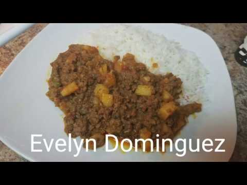 How to make Picadillo (Ground beef stew)