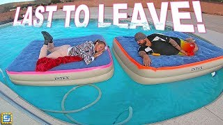 LAST TO LEAVE the SWIMMING POOL WINS $2,000 Challenge!