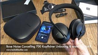 Bose Noise Cancelling 700 Kopfhörer Unboxing und erster Eindruck