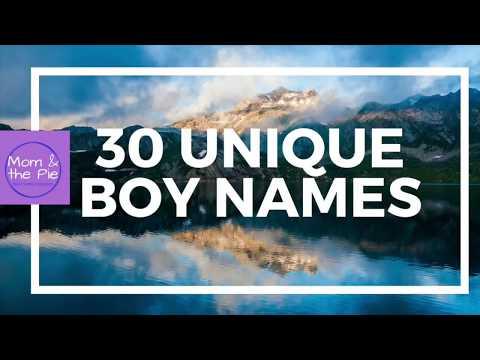 30 Unique Names for Boys