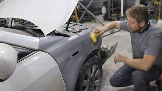 Toyota Camry acv40 3.5 ремонт и покраска бампера и крыла. Экспресс видео.