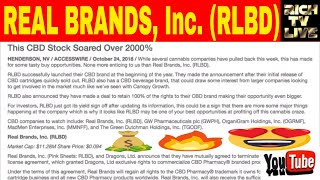 Stocks to watch: Real Brands Inc (RLBD) up 2000%