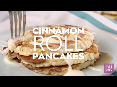 Cinnamon Roll Pancakes | Eat This Now | Better Homes & Gardens