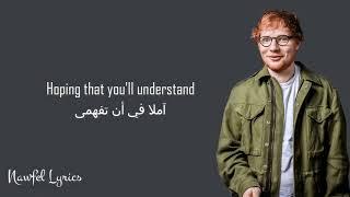 Ed Sheeran   Thinking Out Loud Lyrics مترجمة
