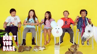 We Challenged Kids to Not Move with Dunk Tank and Unicorn! | Don't You Dare | HiHo Kids