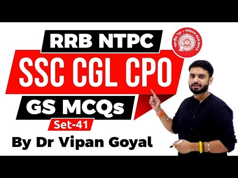 RRB NTPC GROUP D | Set 41 | General Awareness And Current Affairs 2019 I Study IQ | Dr Vipan Goyal