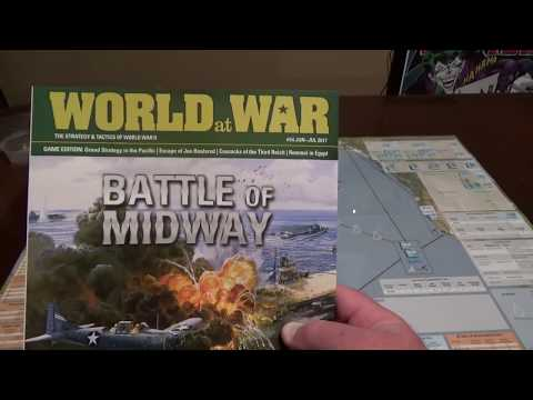 Bare Bones Wargaming Midway Solitaire Intro and first turn play through