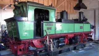 Die sächsiche IVK 132 im Lokschuppen Wilsdruff - Das original der LGB Lok !