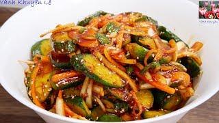 KIM CHI DƯA LEO   Cách Làm Dưa Kim Chi Trộn ăn Liền Chay Mặn đều Dùng được By Vanh Khuyen