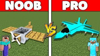 Minecraft Battle: NOOB vs PRO : PLANE BASE Challenge in Minecraft Animation