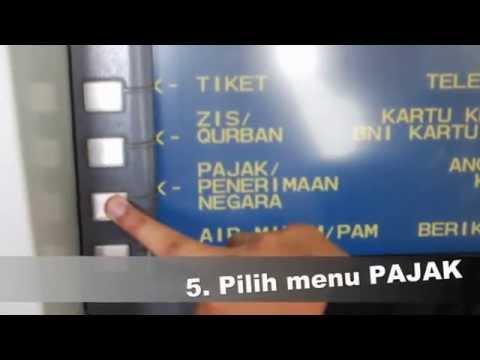 Cara membayar pajak melalui ATM