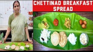 Chettinad Breakfast spread by Revathy shanmugam