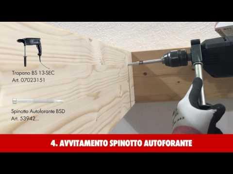 Giunzione a scomparsa di travi in legno | Spinotto autoforante BSD Würth Art. 53942