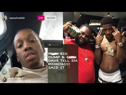 Memo 600 Goes 0ff On NBA Youngboy & D!ss His 💀 Homies Dump/Dave