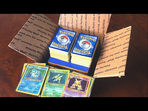 UNBOXING A POKEMON CARDS MYSTERY BOX FROM A SUBSCRIBER! (SO MANY VINTAGE HOLOS!)