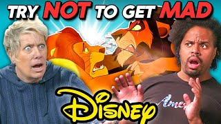 Adults React To Try Not To Get Mad Challenge (DISNEY EDITION)