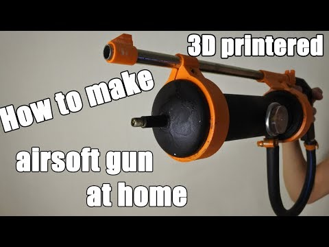 Homemade pistol - how to make airgun pistol at home