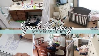 SPEED CLEAN MY HOUSE WITH ME | SAHM POWER HOUR 2018 | Extreme Cleaning Motivation