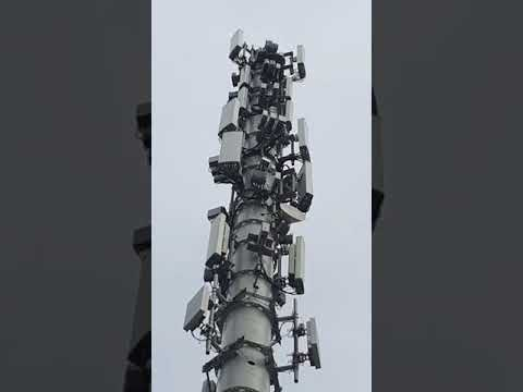 21 Antenna 4G/5G Monopole Tower at Calgary Stampede