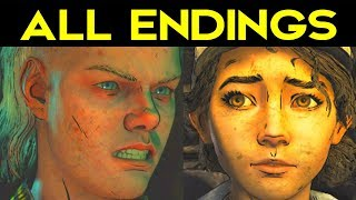 The Walking Dead Season 4 Episode 1 ALL ENDINGS (Bad Ending 1 + Good Ending 2) + SECRET ENDING