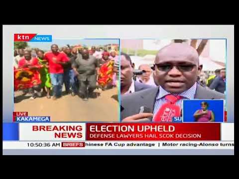 Ekuru Aukot's reaction's to the Supreme Court verdict to uphold Uhuru Kenyatta's presidency