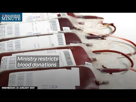 Ministry restricts blood donations