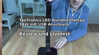 TaoTronics TT-DL01 14 W LED Schreibtischlampe (Review und Livetest) German