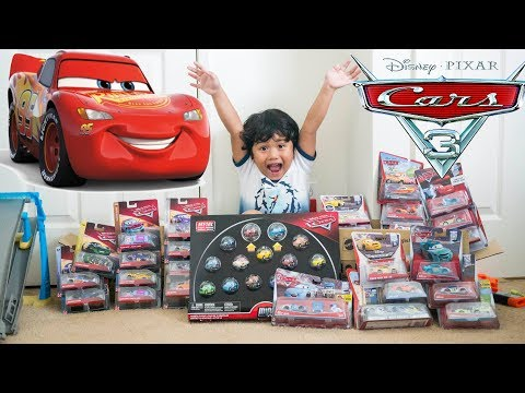 Giant Disney Cars 3 Toy Haul And Unboxing | Lightning McQueen Piston Cup Racers Toy Collection