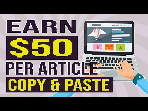 Earn Money Online Just COPY & PASTE - How to Make Money Writing Short Articles