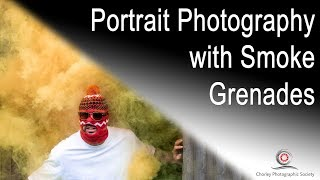 Portrait photography with smoke grenades