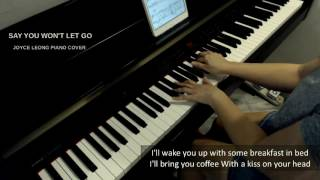 James Arthur  Say You Wont Let Go  Piano Cover & Sheets