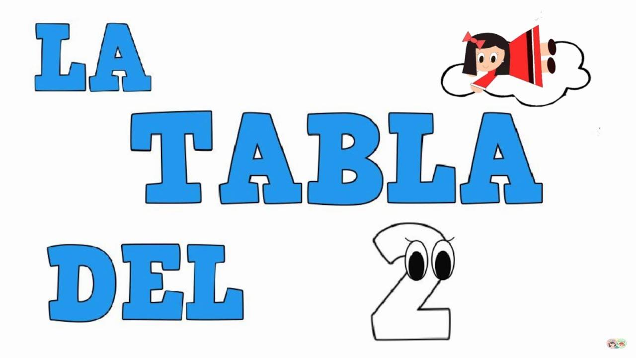 La Tabla del 2 - Tablas de multiplicar - Vídeos educativos para Niñosy Bebés