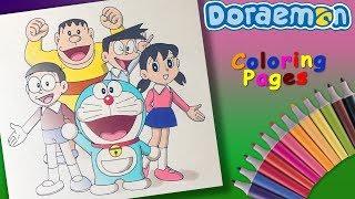 Nobita Shizuka Suneo Jaian Coloring Page. Draw and Coloring #Doraemon Cartoon #ForKids