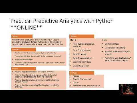 Online Training: Practical Predictive Analytics with Python - YouTube
