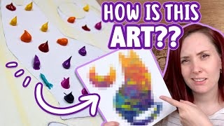 TURNING PAINT BLOBS INTO ART? - Trying Abstract Art - Acrylic Painting