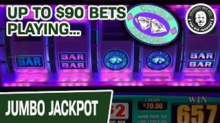 🤑 Up to $90 BETS! 💎 💎 DOUBLE DIAMOND Slot Compilation