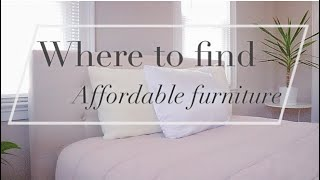 WHERE TO FIND AFFORDABLE FURNITURE ?  | HOW TO PICK THE RIGHT PIECES FOR YOU |
