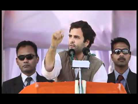 Rahul Gandhi addressing a massive public rally at Ram Lila Ground, Meerut : Feb 2, 2012