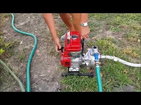Verwendung der Benzin Gartenpumpe GeoTech WP250