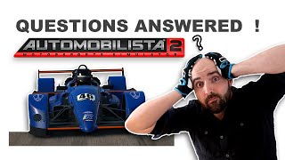 Automobilista 2 -  Questions Answered !