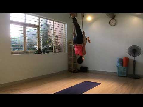 GUIDELINE AERIAL YOGA FOR BEGINNER| HANG UP BODY UP SIDE DOWN