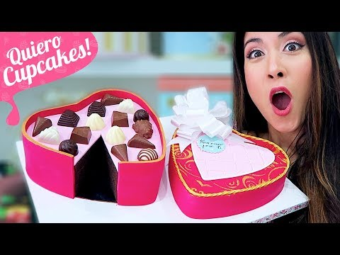 TARTA CAJA DE BOMBONES | Especial San Valentín | Quiero Cupcakes!