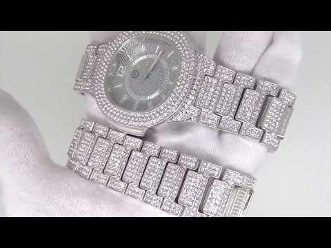Touch Screen Digital Watch By Techno Pave Bling Bling