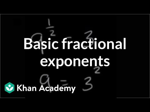 Intro to rational exponents | Algebra (video) | Khan Academy