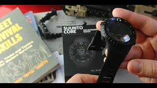 Suunto Core All Black Military Watch:  Unboxing and First Thougths
