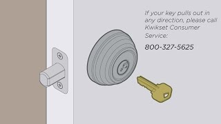 Kwikset SmartKey Troubleshooting: How to Prevent Key from Pulling Out in Any Direction