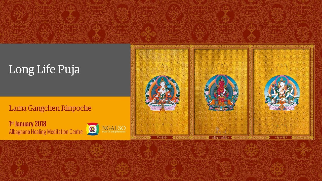 Long Life Puja for Lama Gangchen Rinpoche, Lama Michel Rinpoche, Lama Caroline and all masters of the lignage