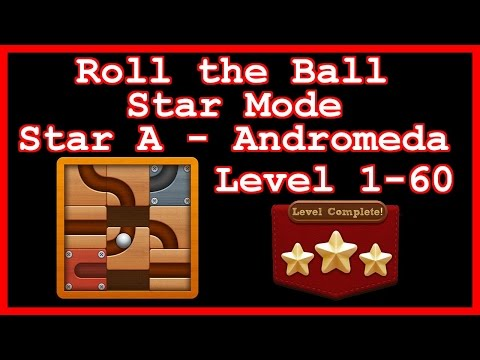 Roll the Ball Andromeda Level 1-60 (Star Mode - Star A) - Lösung Solution Walkthrough
