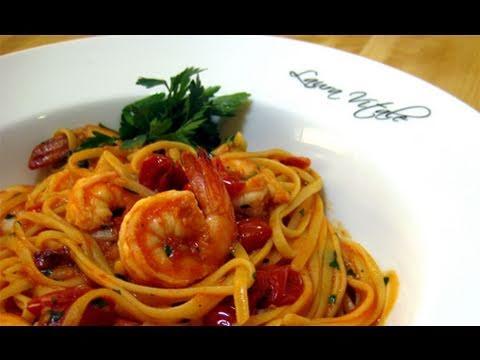 "Linguine with Shrimp Al Diablo Recipe by Laura Vitale ""Laura In The Kitchen"" Episode 44"